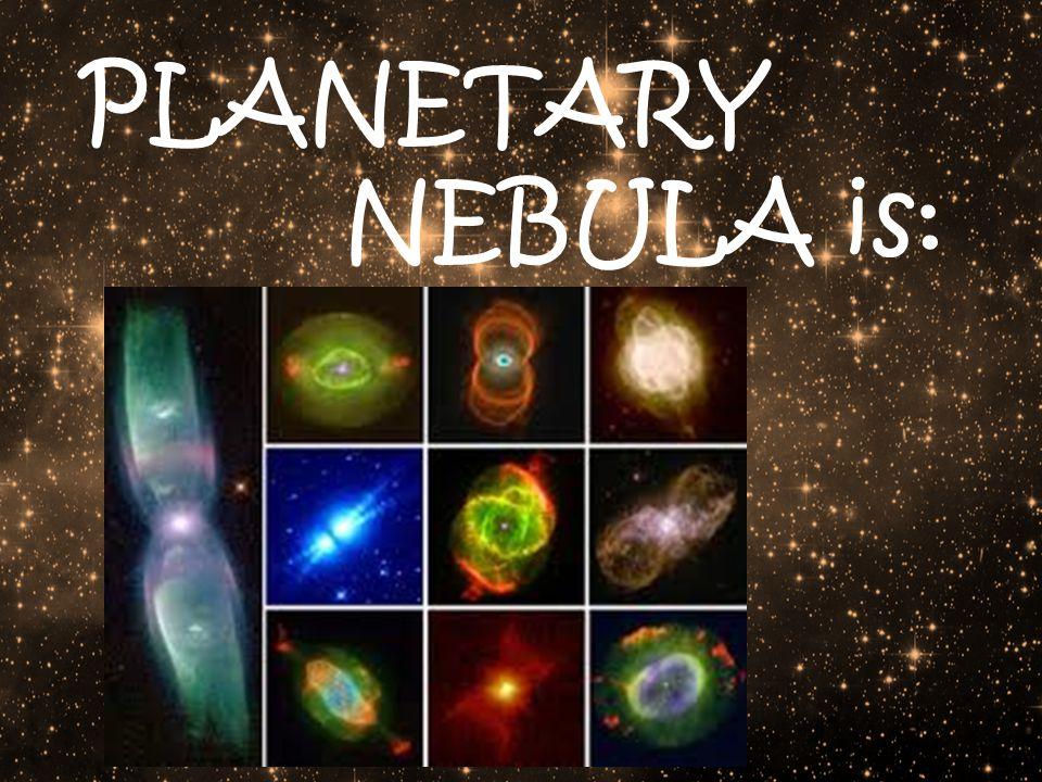 PLANETARY NEBULA is: