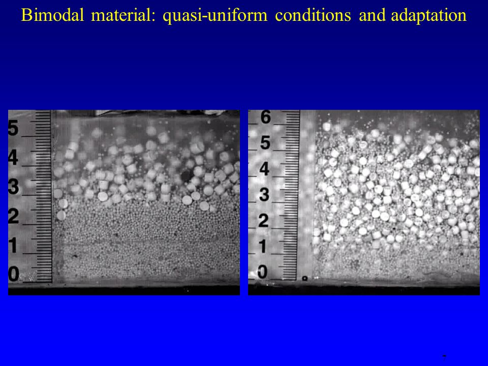 7 Bimodal material: quasi-uniform conditions and adaptation