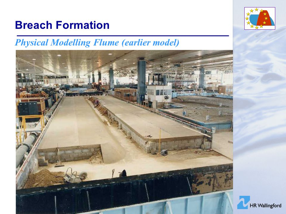 Breach Formation Physical Modelling Flume (earlier model)