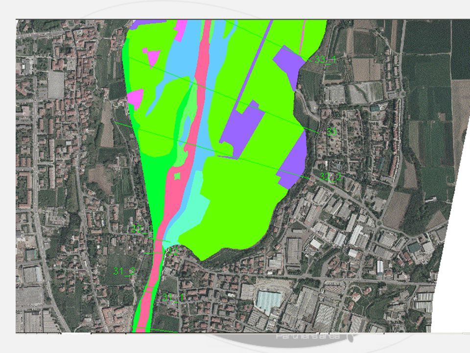 The values of the Manning roughness coefficient can be estimated on the basis:  maps of the soil use in the floodplain  mean particle size of the river bed material  photographs of revetments