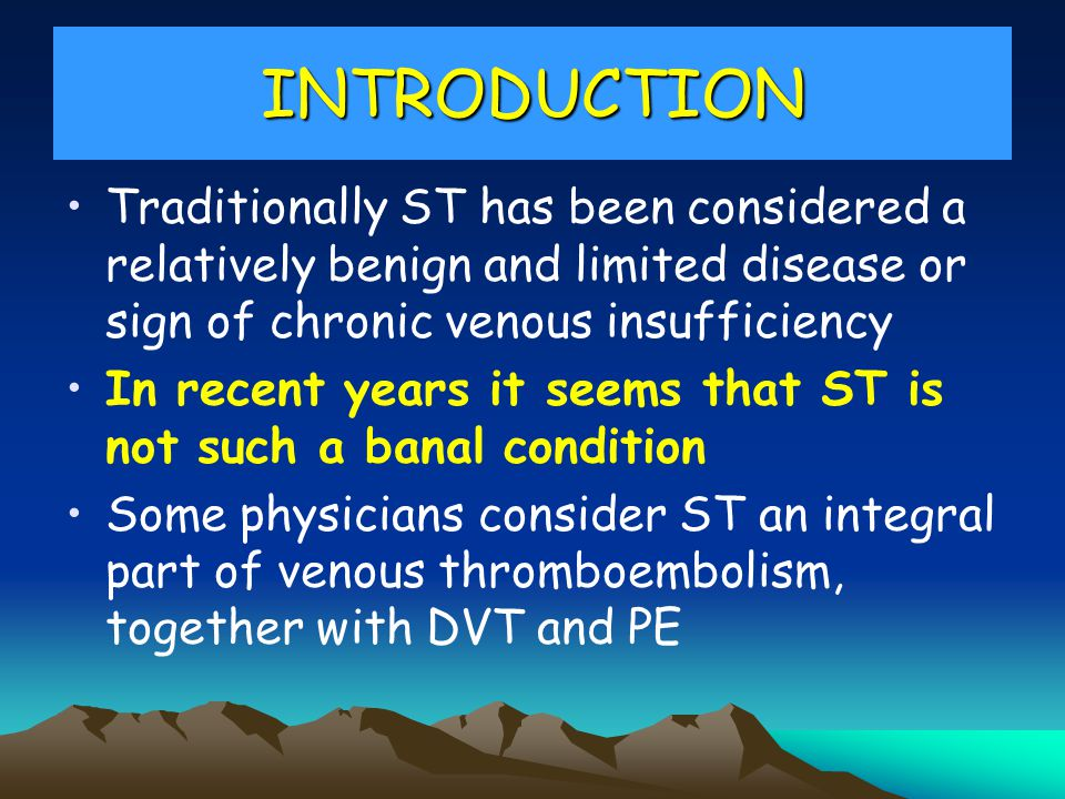 In conclusion Do we need a consensus on diagnostic and treatment of superficial thrombophlebitis?