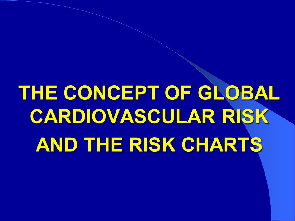 THE CONCEPT OF GLOBAL CARDIOVASCULAR RISK AND THE RISK CHARTS