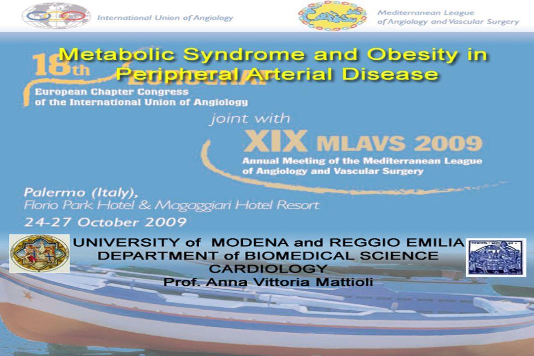 Metabolic Syndrome and Obesity in Peripheral Arterial Disease Fernando Botero, La famiglia True Syndrome .