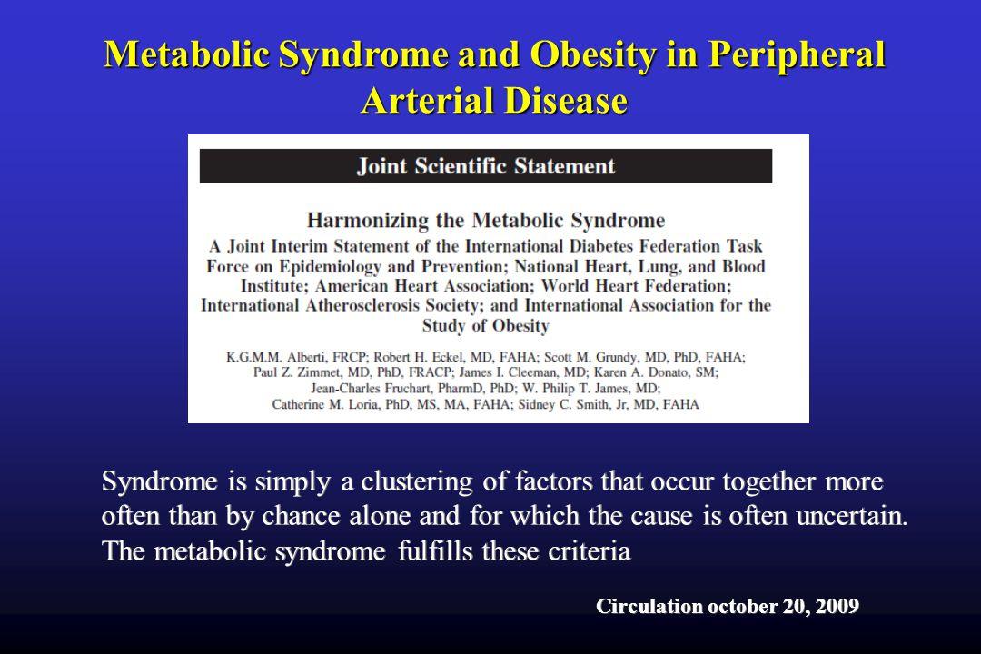 Mattioli AV ESC 2009 Metabolic Syndrome and Obesity in Peripheral Arterial Disease