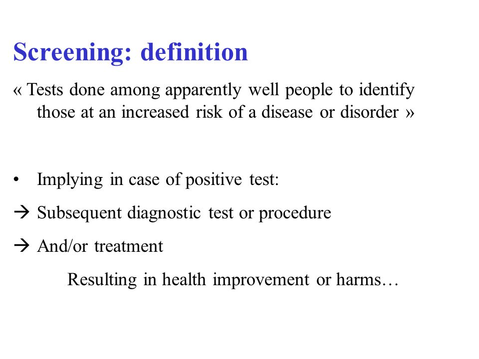 4 criteria for an optimal screening (1) The condition: important, and the natural history and epidemiology must be understood.