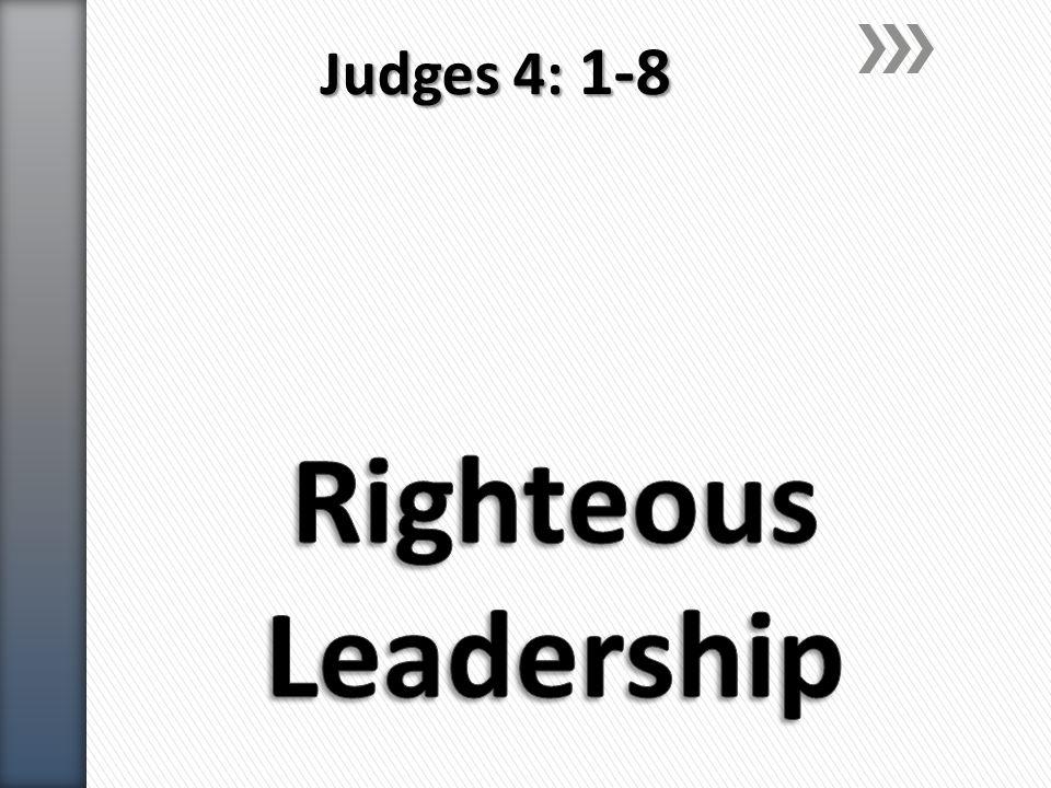 Judges 4: 1-8