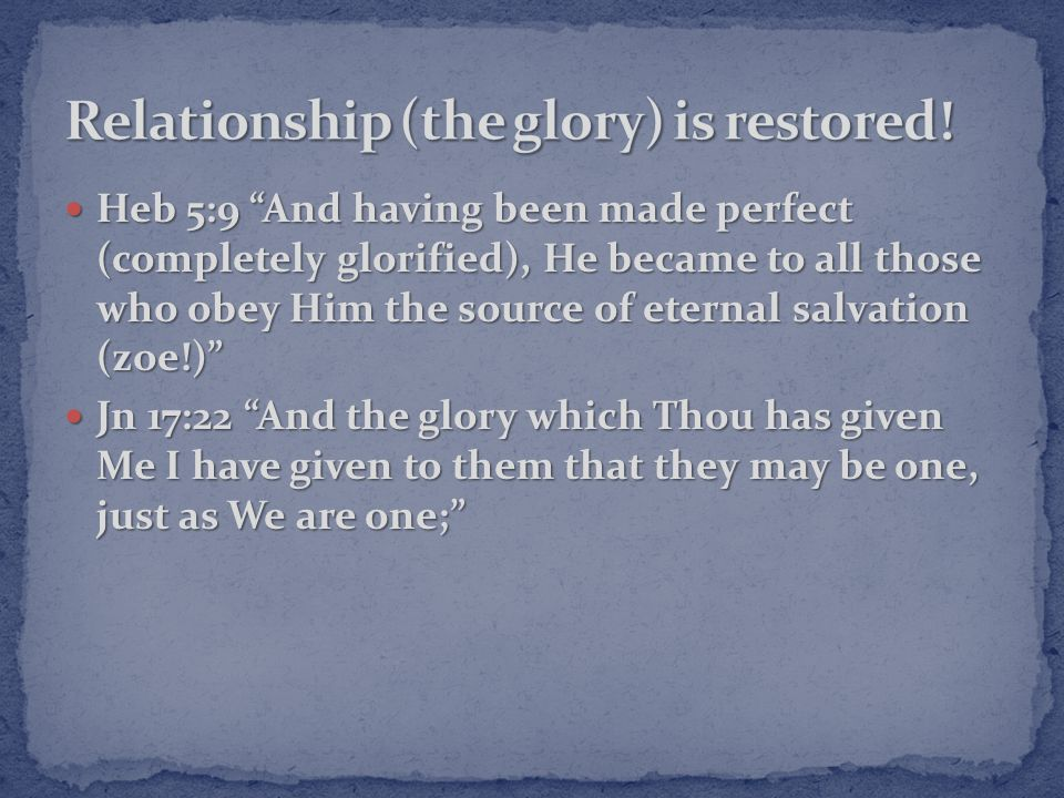 Are you in right relationship with Father God through Jesus Christ.