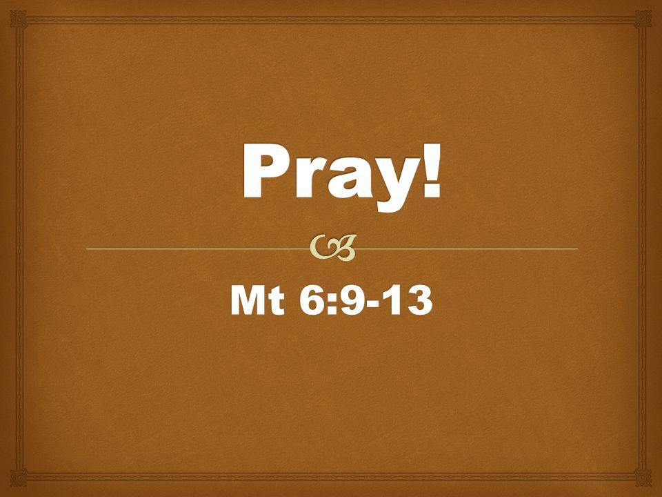 Mt 6:9-13