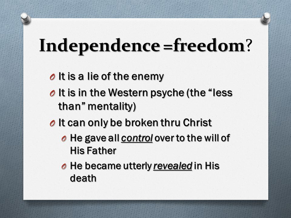 Where the Spirit of Lord is, there is freedom O 1.