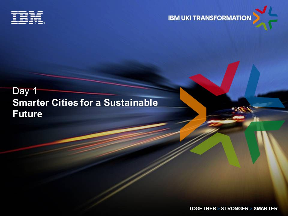 © 2009 IBM Corporation TOGETHER > STRONGER > SMARTER 12 Bubble 2 - Economy Overview Sustainable economic growth within a city, inter-city co-operation and competition, heritage versus re-invention....