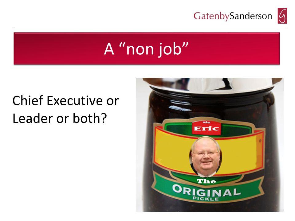 A non job Chief Executive or Leader or both?