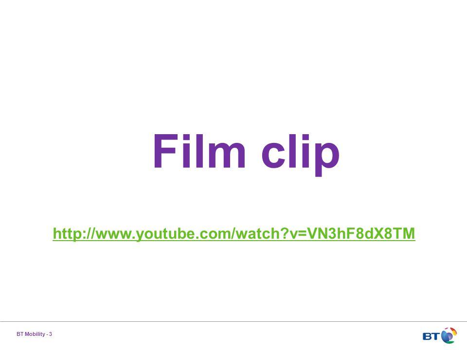 BT Mobility - 3 Film clip http://www.youtube.com/watch v=VN3hF8dX8TM
