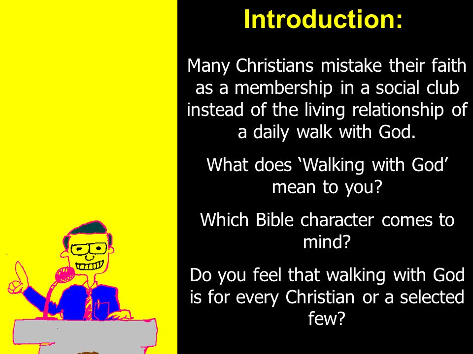 11am How to Call 11:15am Discussion 12pm SummaryIntroduction: Many Christians mistake their faith as a membership in a social club instead of the livi
