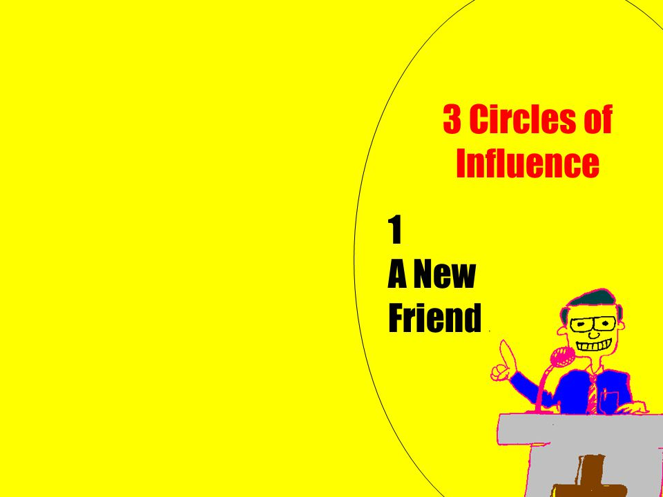 1 A New Friend 3 Circles of Influence