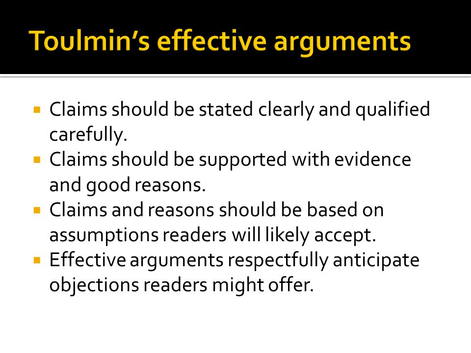  Claims should be stated clearly and qualified carefully.