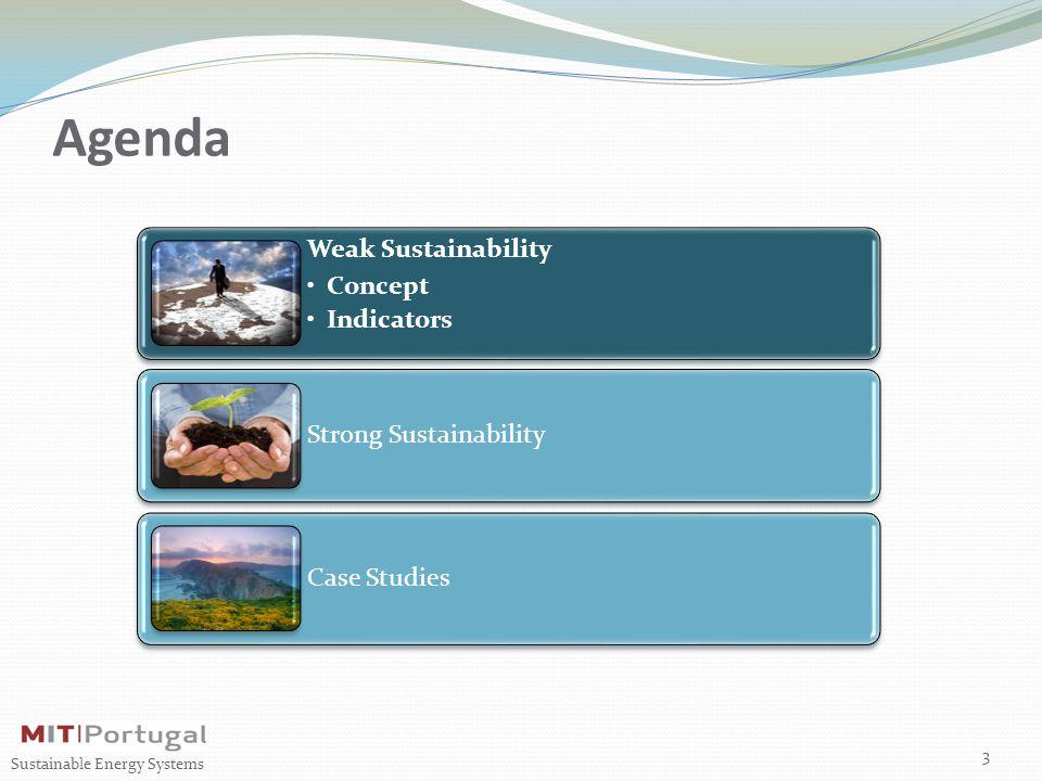 Agenda Weak Sustainability Concept Indicators Strong Sustainability Case Studies 3 Sustainable Energy Systems