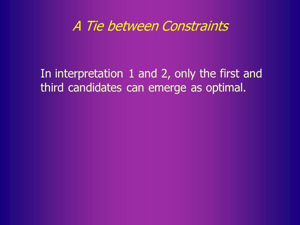 A Tie between Constraints FIStay 1. Wen … t … t …** 2.