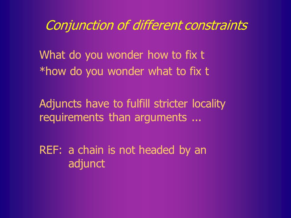 Locality of self conjunction It seems more adequate to say that CON k is violated if CON is violated at least k times by the same element/in the same domain.