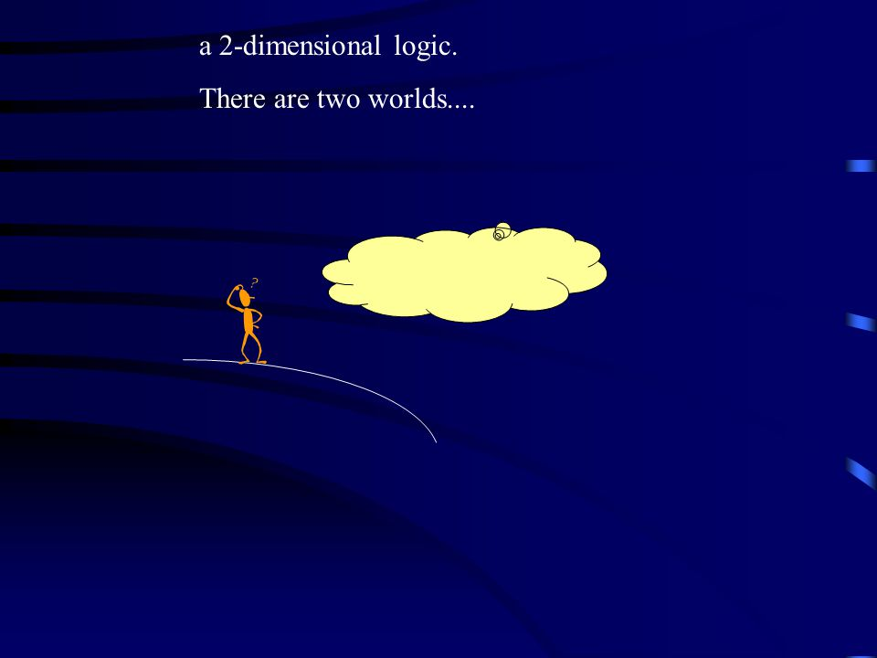 a 2-dimensional logic. There are two worlds....