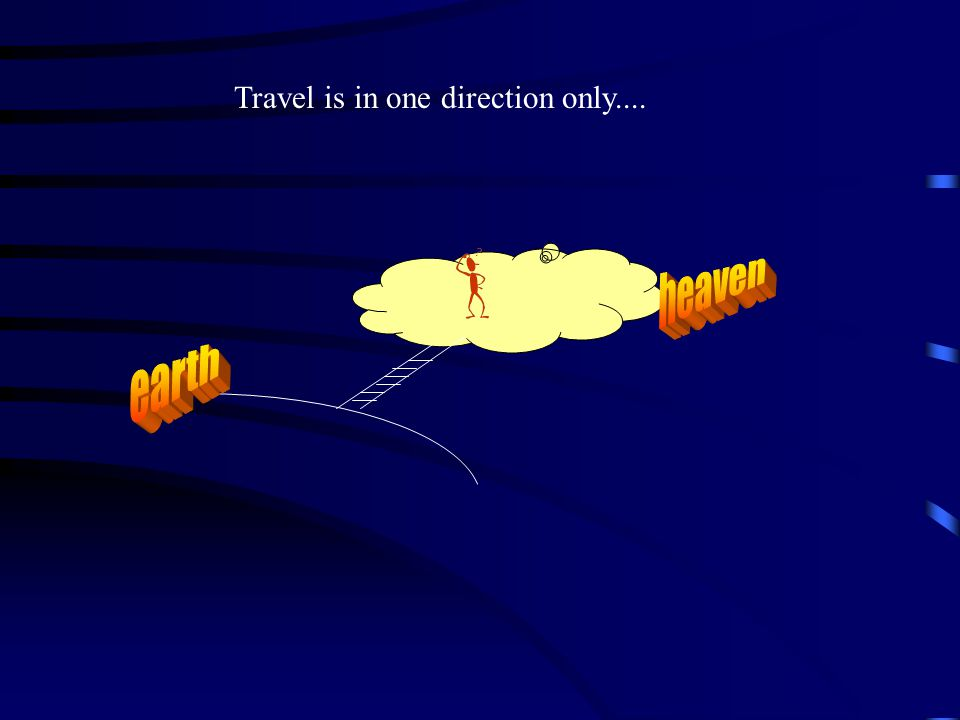 Travel is in one direction only....