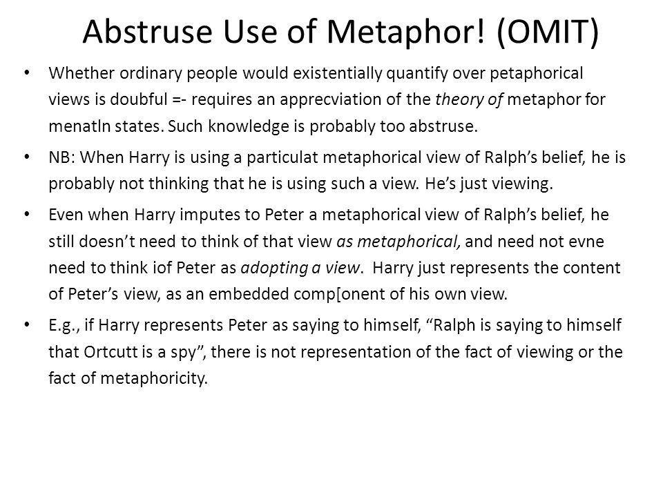 Abstruse Use of Metaphor.