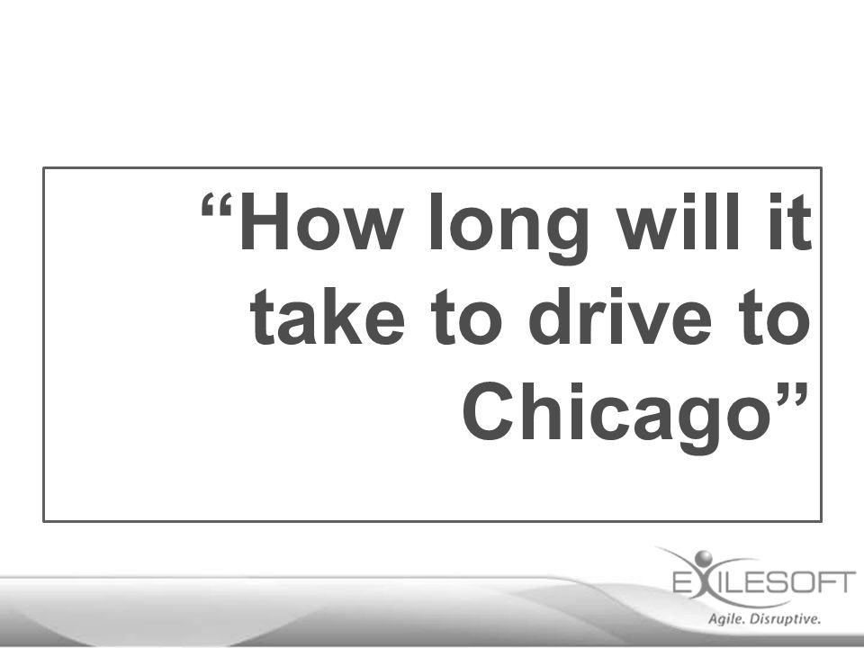 """How long will it take to drive to Chicago"""