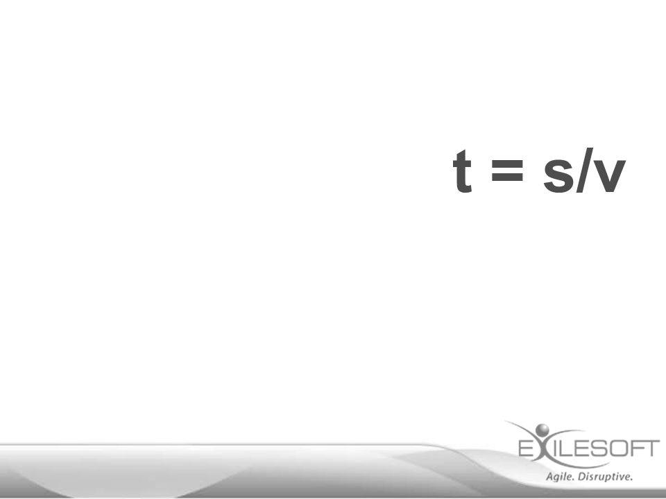 t = s/v