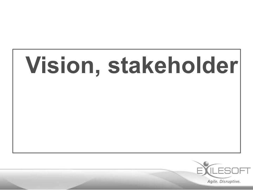 Vision, stakeholder