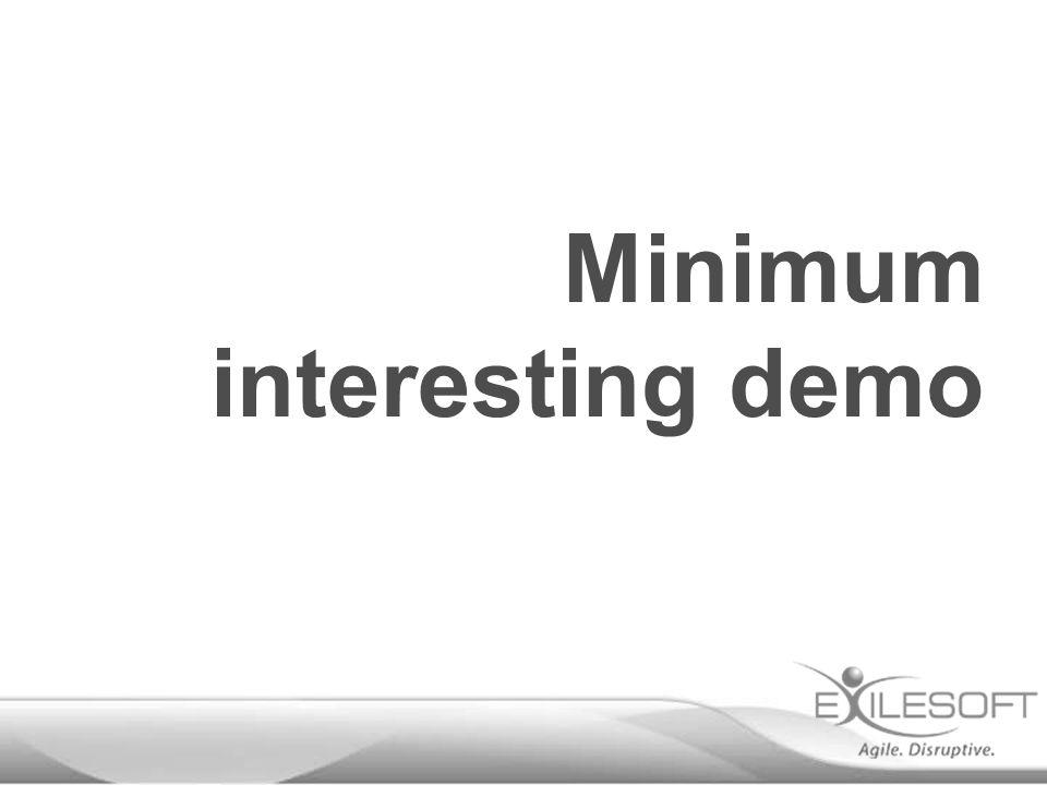 Minimum interesting demo