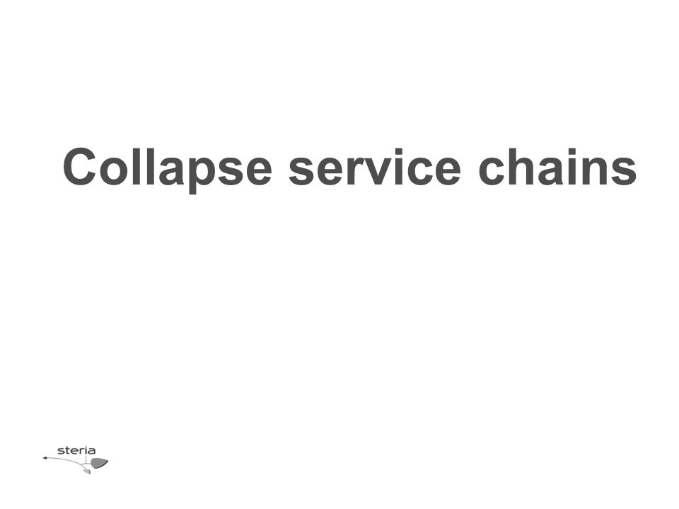 Collapse service chains