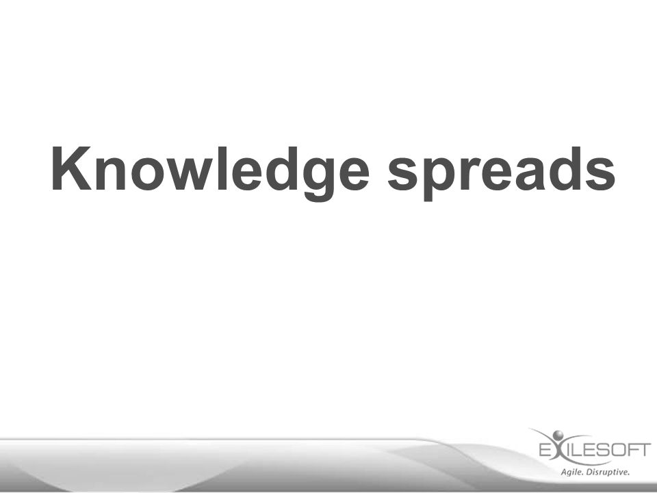Knowledge spreads