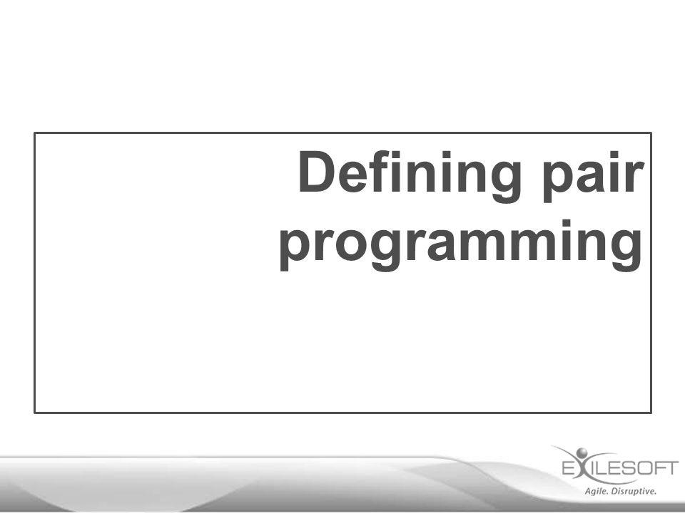 Defining pair programming