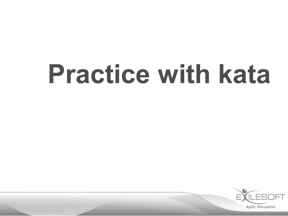 Practice with kata