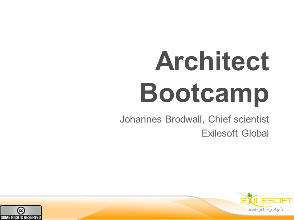 Architect Bootcamp Johannes Brodwall, Chief scientist Exilesoft Global