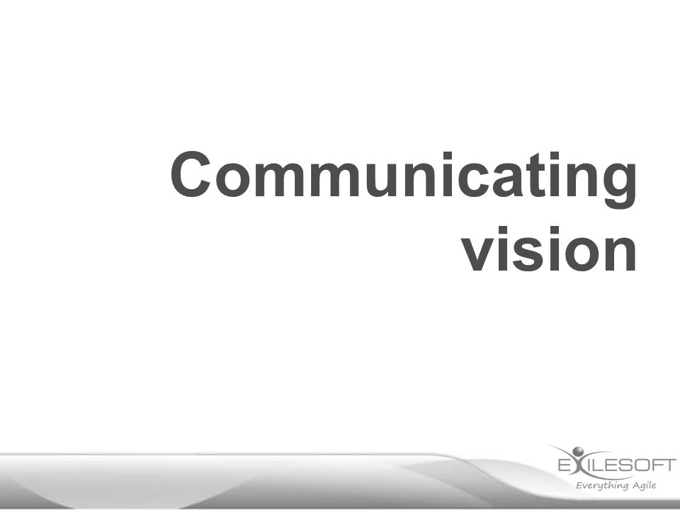 Communicating vision