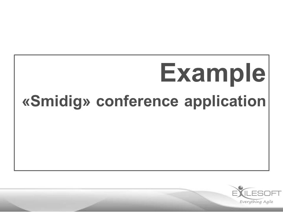Example «Smidig» conference application