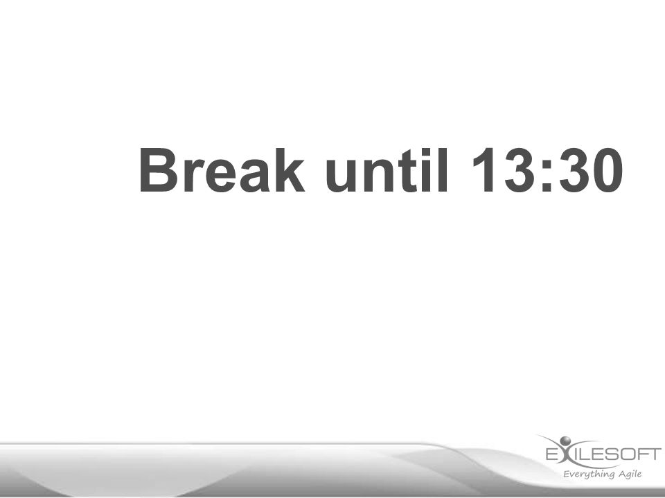 Break until 13:30