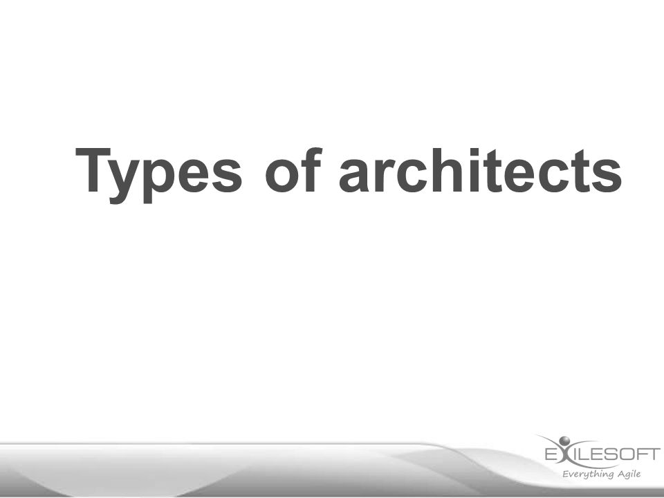 Types of architects