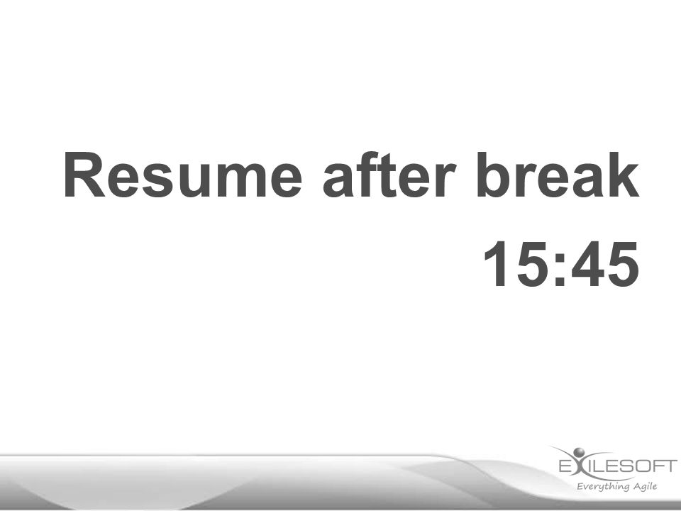 Resume after break 15:45