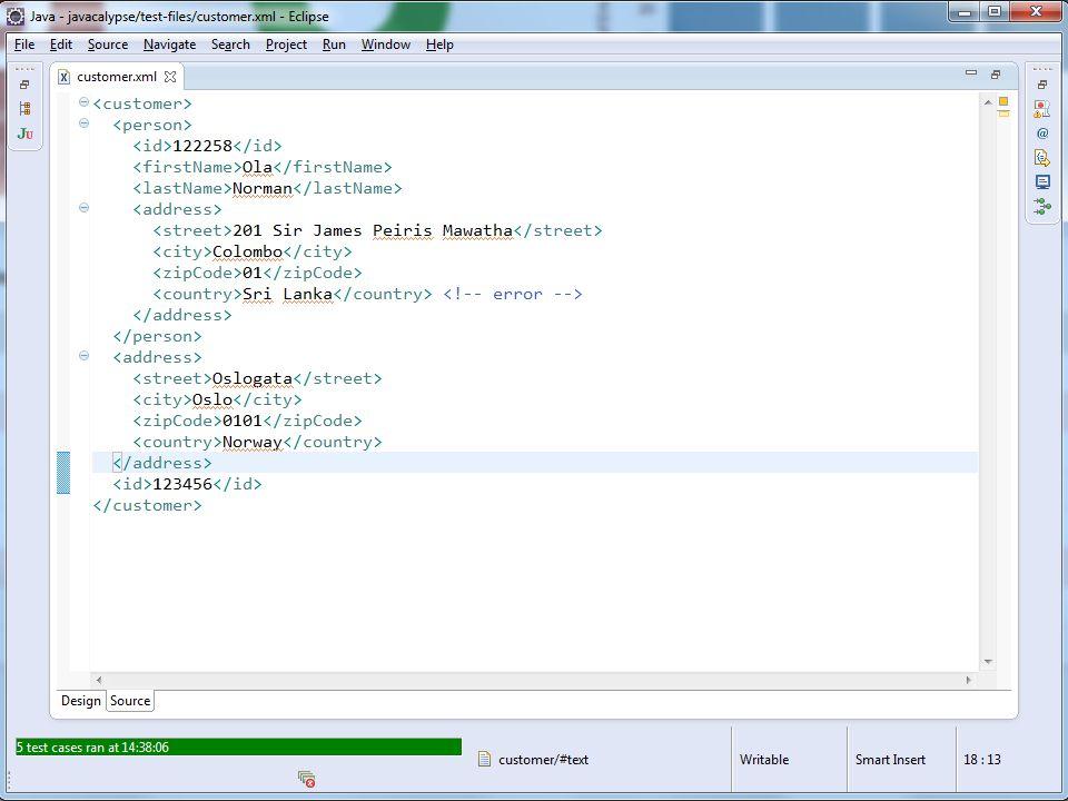 A simple XML file