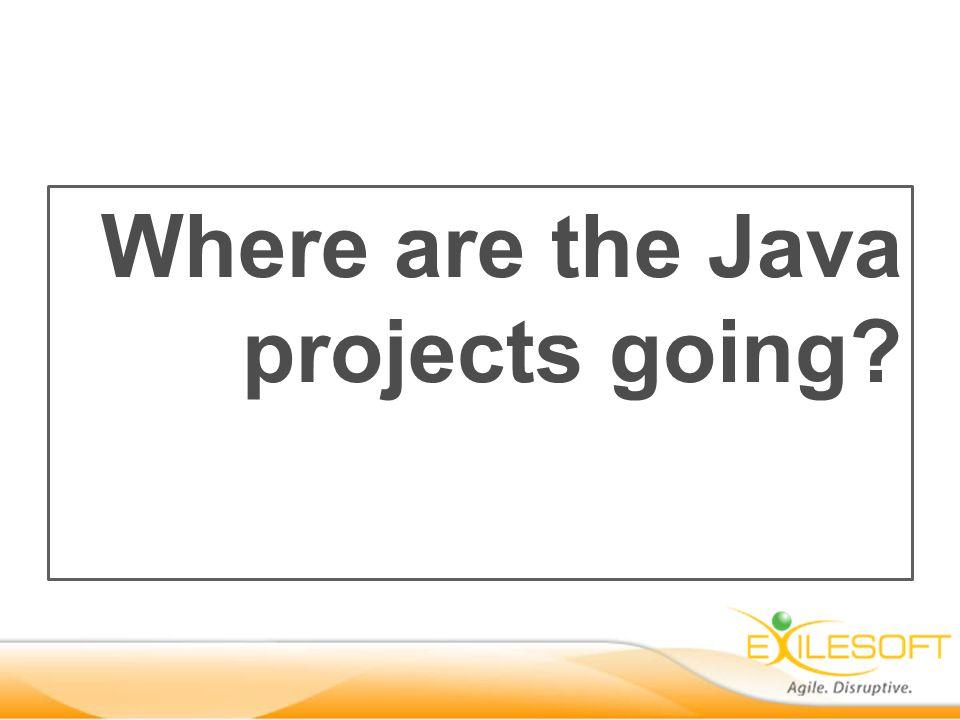 Where are the Java projects going?