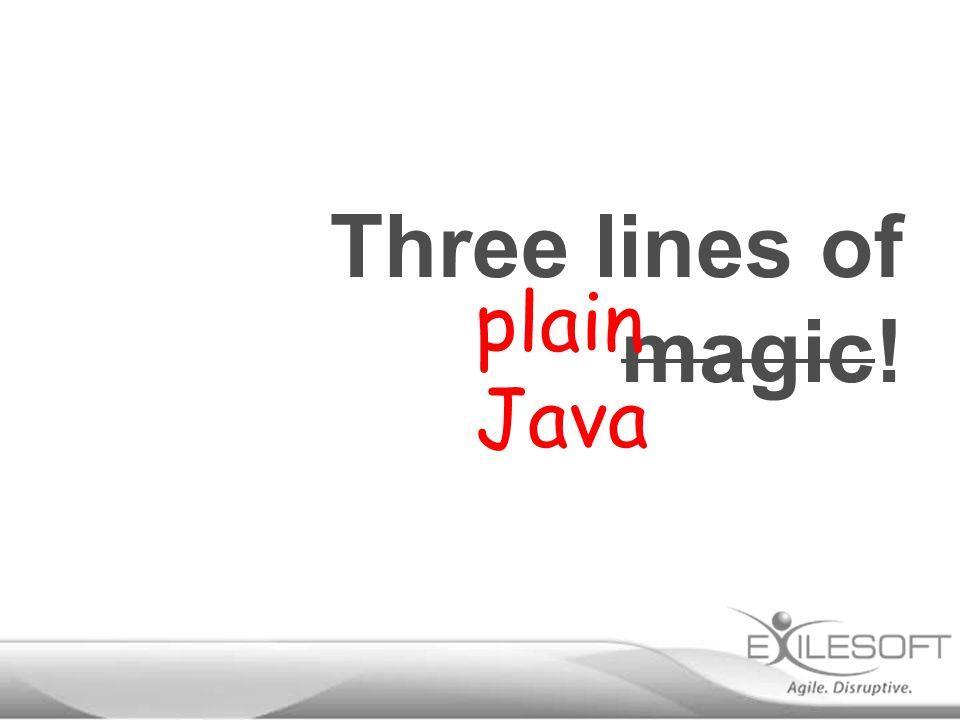 plain Java