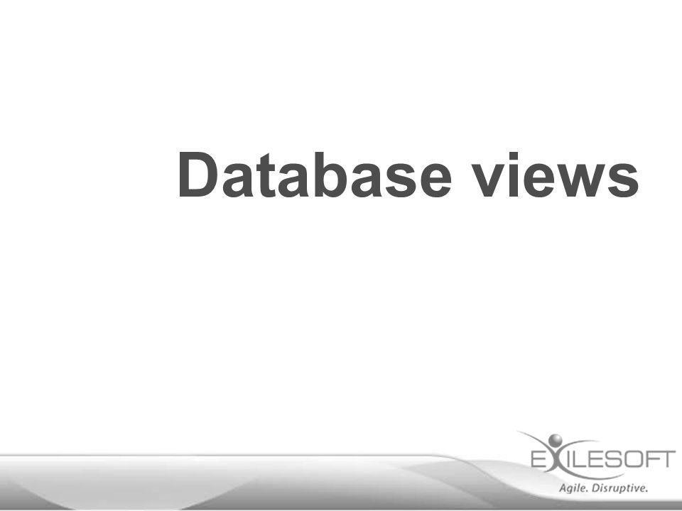 Database views