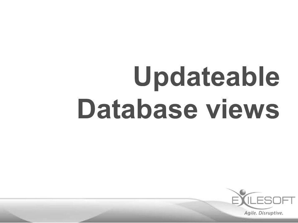 Updateable Database views