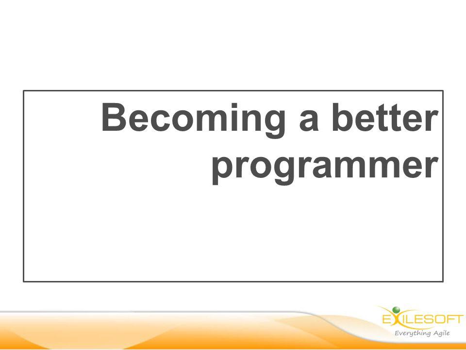 Becoming a better programmer