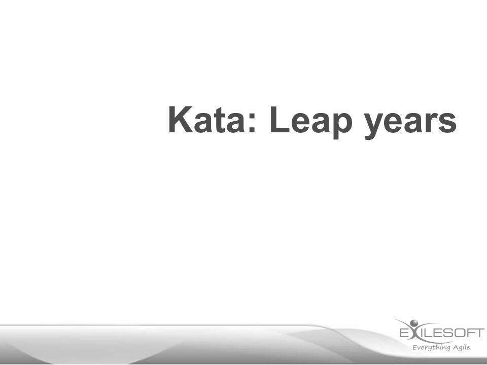 Kata: Leap years