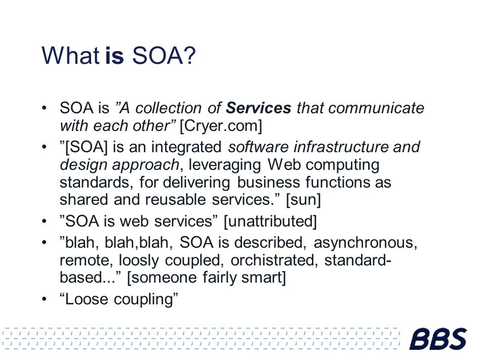 The Object-Service Impedence Mismatch Don t transparently expose your domain model Man-years have been spent on SOA integration layers