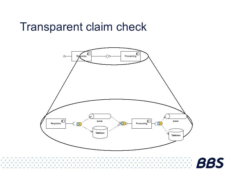 Transparent claim check