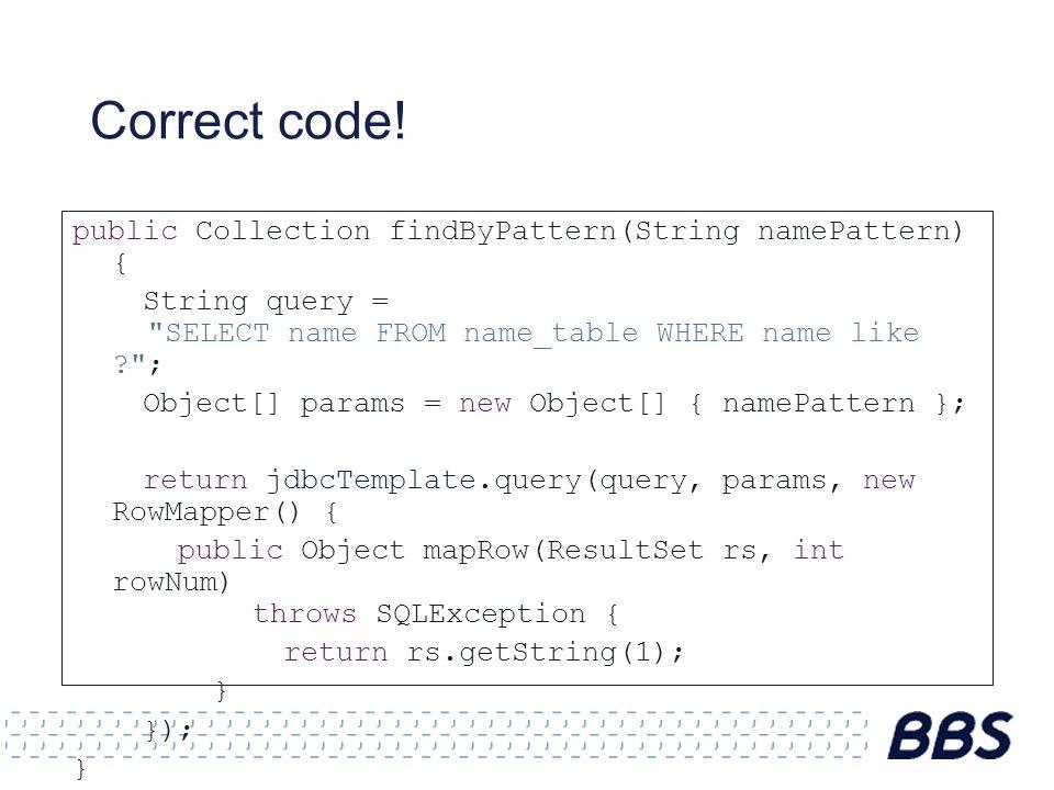 Correct code.