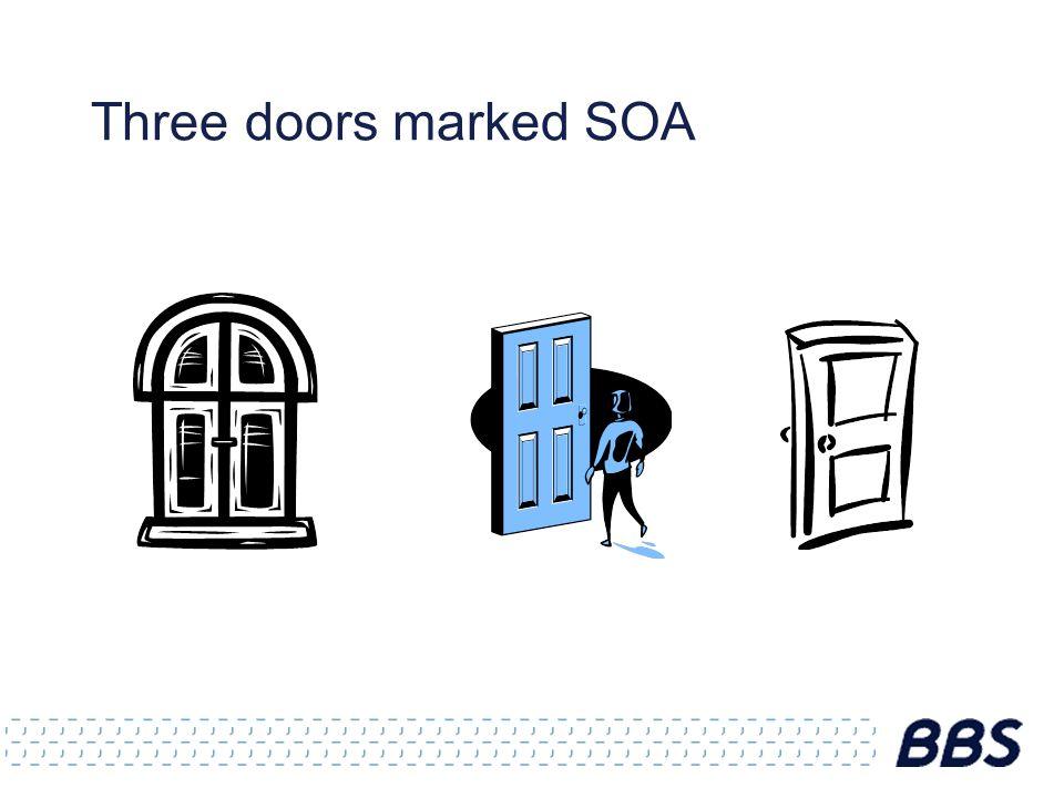 Three doors marked SOA
